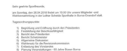 Mitgliederversammlung am 28.04.2019